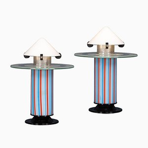 Italienische Tischlampen von Ettore Sottsass, 1970er, 2er Set