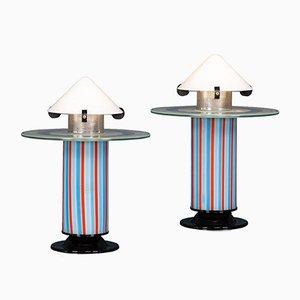 Lampes de Bureau par Ettore Sottsass, Italie, 1970s, Set de 2
