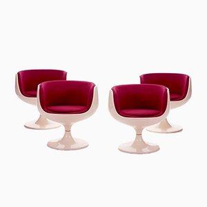 Cognacfarbene Sessel von Eero Aarnio für Asko, 1960er, 4er Set