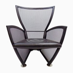 Prive Leather Lounge Chair by Paolo Nava for Arflex, 1980s