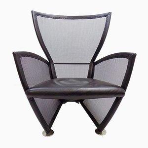 Prive Leder Sessel von Paolo Nava für Arflex, 1980er