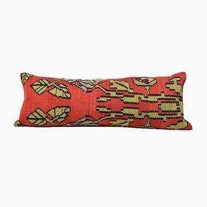 Fodera per cuscino Kilim extra-lungo floreale rossa di Zencef Contemporary