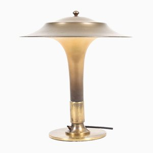 Model Torch Brass & Glass Table Lamp from Fog & Mørup, 1940s