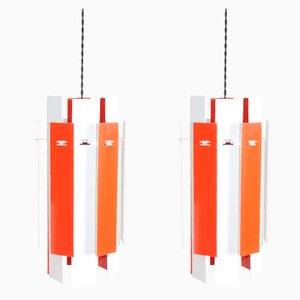 Model Cocktail Ceiling Lamps by Henning Rehhof for Fog & Mørup, 1960s, Set of 2