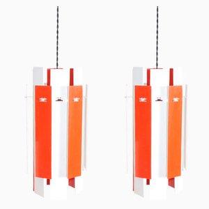 Modell Cocktail Deckenlampen von Henning Rehhof für Fog & Mørup, 1960er, 2er Set