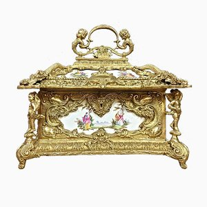 Caja de joyero en forma de pagoda de porcelana, años 70