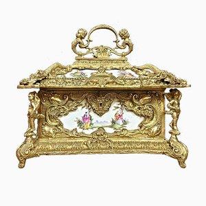Pagoda Shaped Porcelain Jewellry box, 1970s