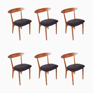 Mid-Century Rosewood Dining Chairs by Harry Østergaard for Randers Møbelfabrik, 1950s, Set of 6