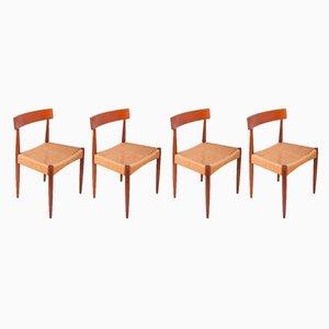 Danish Dining Chairs by Arne Hovmand-Olsen for Mogens Kold, 1960s, Set of 4