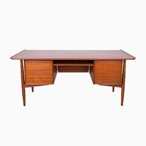 Dänischer Mid-Century Teak Schreibtisch von Arne Vodder für HP Hansen, 1960er