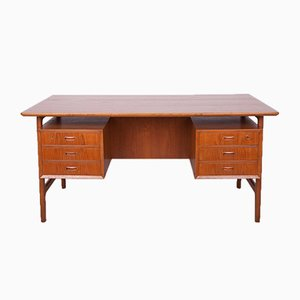 Mid-Century Freestanding Teak Desk by Arne Vodder, 1960s