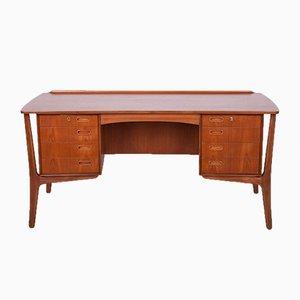 Mid Century Teak Desk by Svend Aage Madsen of H. P. Hansen, 1960s