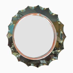 Runder Spiegel von Fontana Arte, 1960er