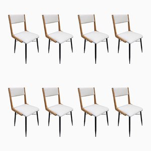 Esszimmerstühle von Carlo de Carli, 1960er, Set of 8
