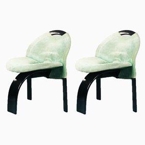 Esszimmerstühle von Giovanni Offredi für Saporiti Italia, 1970er, 2er Set