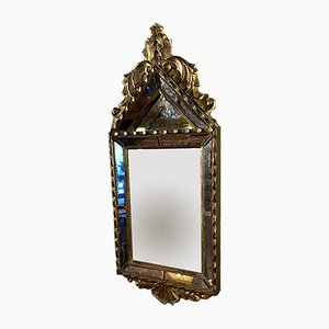 Napoleon III Era Pyramidal Gilt Wood Mirror
