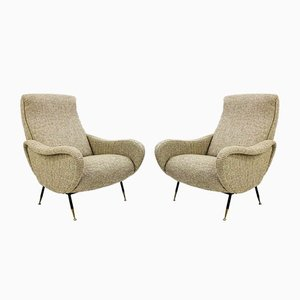 Italian Armchairs in the style of Marco Zanuso, 1970s, Set of 2