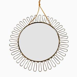 French Metal Sun Mirror, 1960s