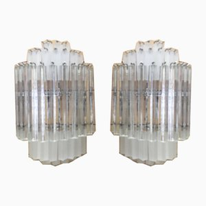 Murano Glass Triedro Wall Sconces from Italian Light Design, Set of 2