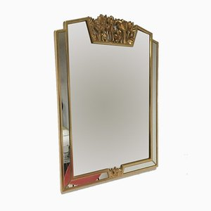 Hollywood Regency Mirror with Floral Details from Deknudt