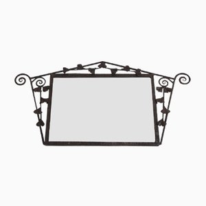 Art Deco Mirror With Metal Flower Border