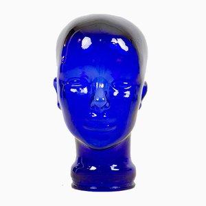 Vintage Blue Glass Head
