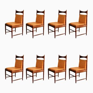 Dining Chairs by Sergio Rodrigues for OCA, 1960s, Set of 8