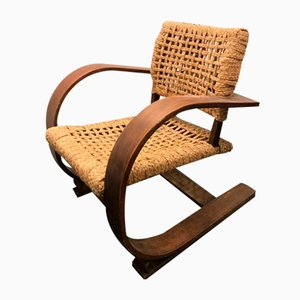 Rope Lounge Chair by Adrien Audoux & Frida Minet, 1960s