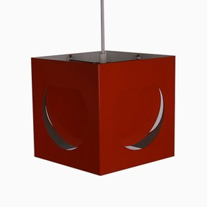 Scandinavian Space Age Orange Pendant Lamp, 1960s