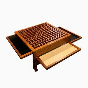 Sliding Top Coffee Table by Bernard Vuarnesson, 1980s