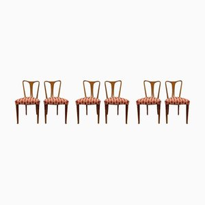Cherry Wood Dining Chairs from Guglielmo, 1939, Set of 6