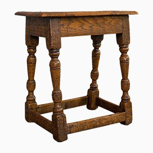 Small Antique Oak Joint Stool