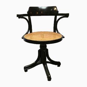 Drehbarer europäischer Holz und Vienna Chair Stuhl im Stil von Thonet, 1900er