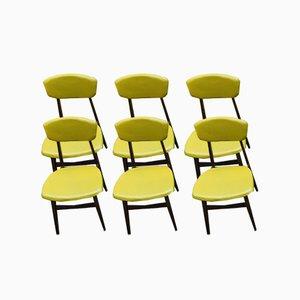Teak Esszimmerstühle, 1960er, 6er Set