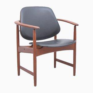 Mid-Century Teak Armchair by Arne Hovmand-Olsen for Jute