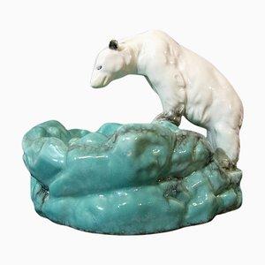 Portaobito Art Déco a forma di orso polare di Ditmar Urbach, anni '30