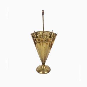 Mid-Century Brass Umbrella Stand, 1950s