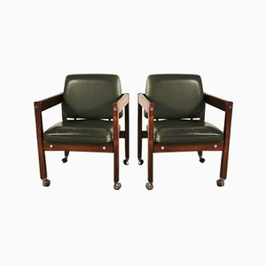 Kiko Desk Chairs by Sergio Rodrigues for OCA, 1960s, Set of 2