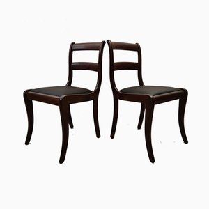 Vintage Mahogany Dining Chairs from Randers Møbelfabrik, 1960s, Set of 4