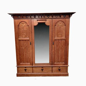 Antique Arts & Crafts Wardrobe from Shapland & Petter of Barnstaple