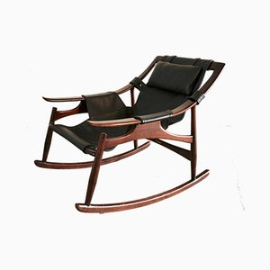 Rosewood Rocking Chair by Liceu de Artes e Oficios, 1950s