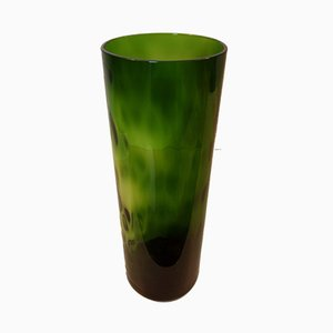 Round Green Glass Vase from Elmo House, 1960s