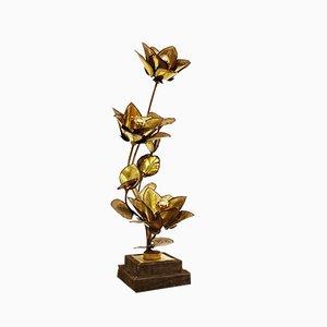 Flower Tischlampe von Maison Jansen, 1970er