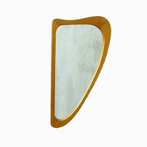 Mid-Century Danish Teak Harp Mirror, 1960s