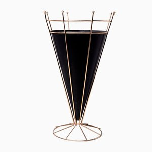 Brass and Metal Umbrella Stand, 1950s