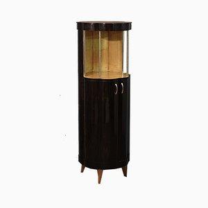 Art Deco Round Macassar Ebony French Dry Bar, 1940s