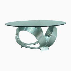 Aluminium Coffee Table by Knut Hesterberg, 1960s