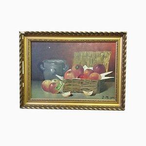 H.M., Apple Still Life, 1922, Oil on Canvas