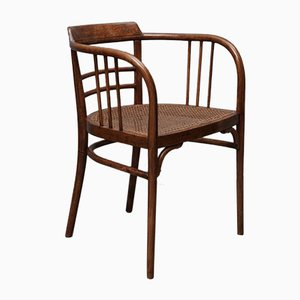 Austrian Art Nouveau Curved Beechwood Chair from Thonet, 1910s