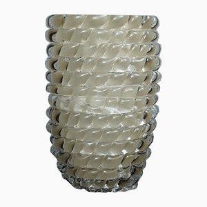 Mid-Century Italian Round Dove Gray Vase, 1970s